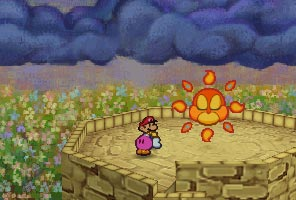 Paper mario 64 flower fields boss best wallpapers hd flower fields paper mario chapter 6 at the top of the tower is the sun who appaly looks like an owl the mightylinksfo