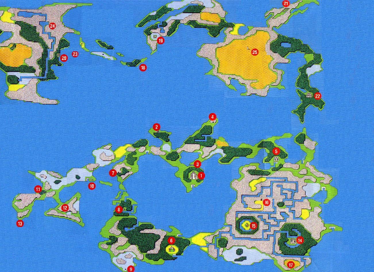 Final Fantasy Origins World Map   AVIDADECOBO