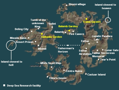 Final Fantasy 8   Maps