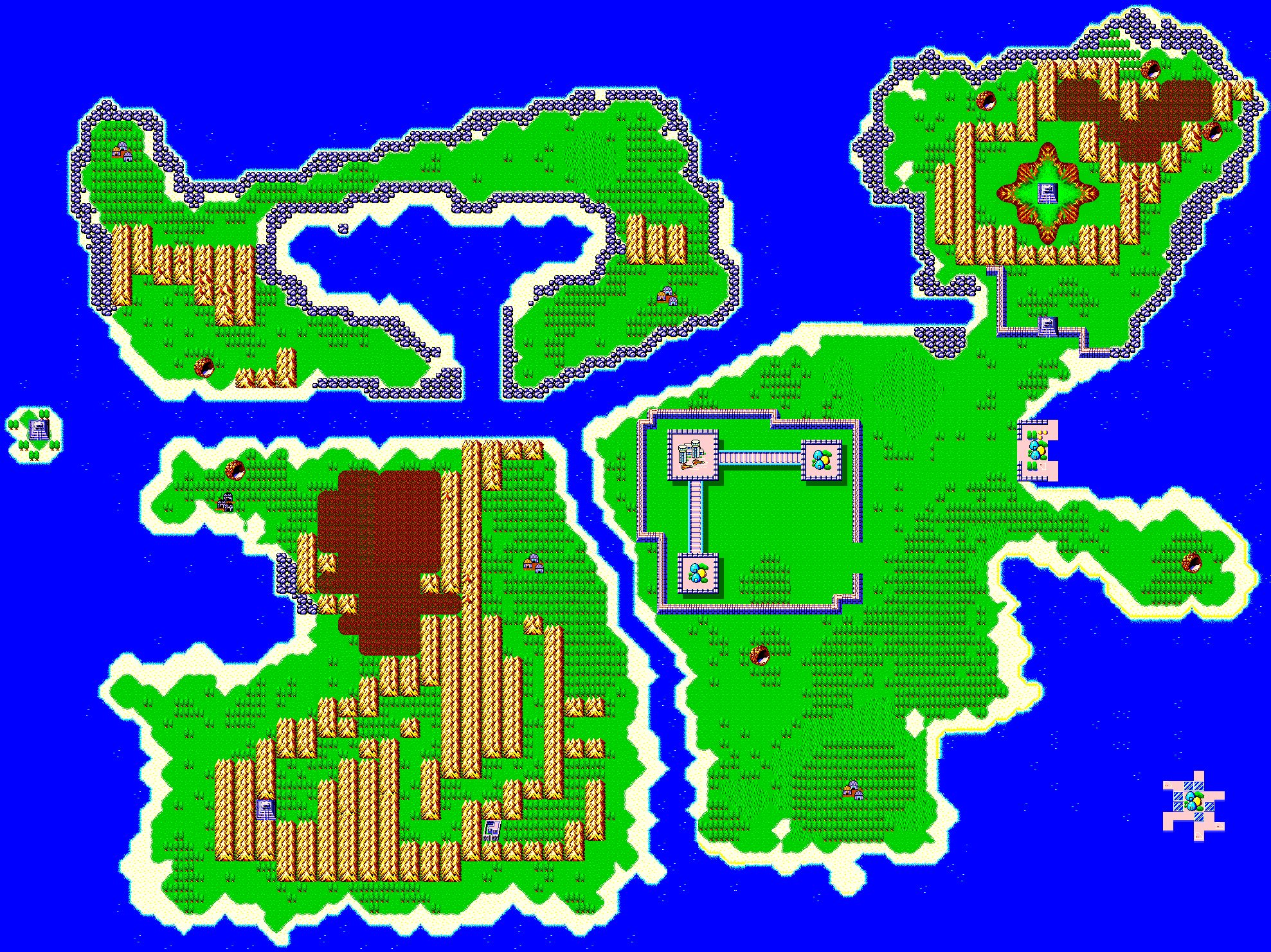 Phantasy Star 4 World Map.Phantasy Star Towns Overworlds Shops Maps
