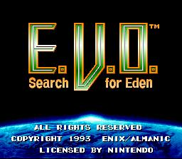 E V O Search For Eden Shrine Walkthrough